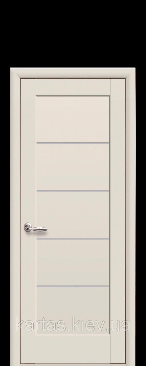 Дверное полотно Мира Капучино со стеклом сатин