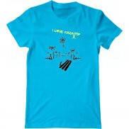 Мужская футболка с принтом Люблю Казантип