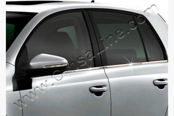 Молдинг стекол (4 шт, нерж) Volkswagen Golf 6