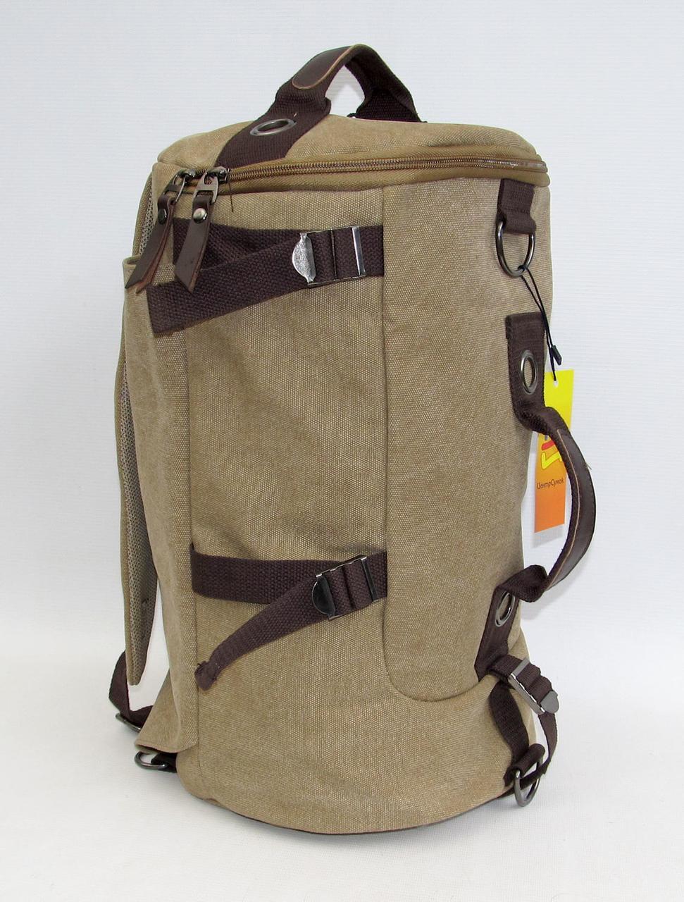 """Стильная брезентовая сумка-рюкзак """"PENG"""" 835 (40 см)"""