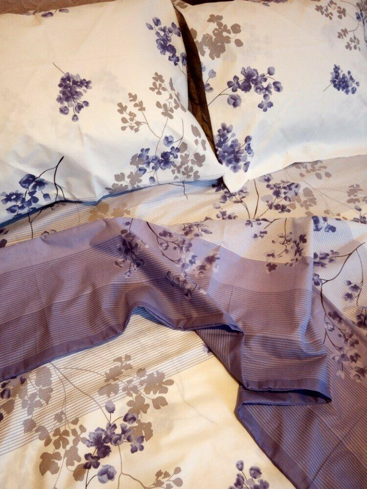 6af66578992b Постельное белье полуторного размера из бязи оптом фиолетовые цветы ...