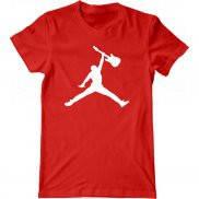 Мужская футболка с принтом Джордан-гитарист