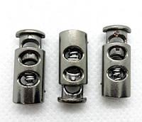 Фиксатор для шнура 3351 темный никель пластик (500 шт), фото 1