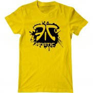 Мужская футболка с принтом Fnatic брызги