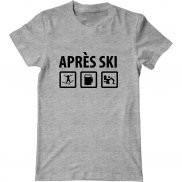 Мужская футболка с принтом Apres Ski