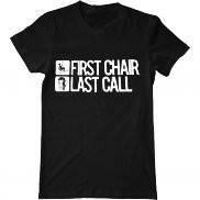 Мужская футболка с принтом First chair last call