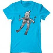 Мужская футболка с принтом Ski Drawing