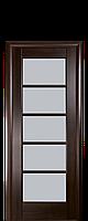 Дверное полотно Муза Каштан со стеклом сатин