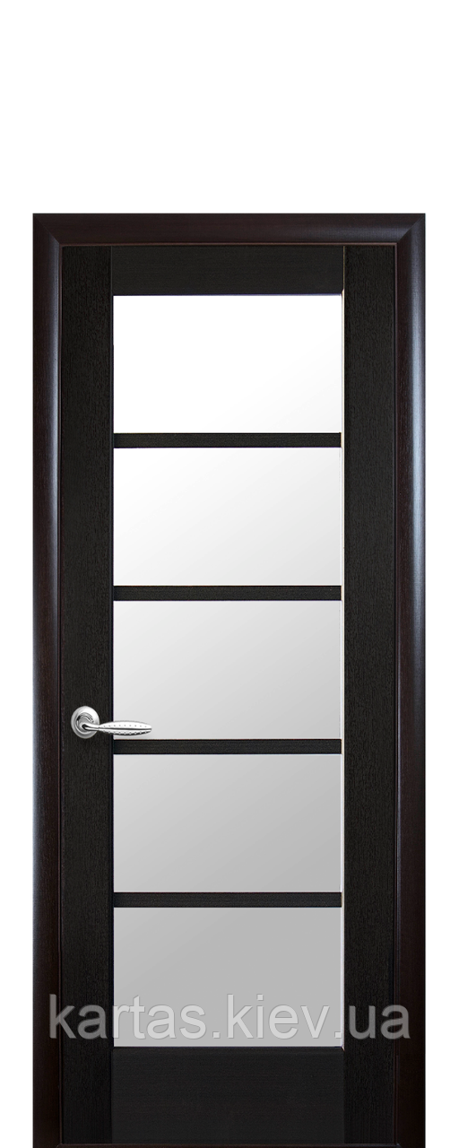Дверное полотно Муза Венге New со стеклом сатин