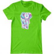 Мужская футболка с принтом розовый слон