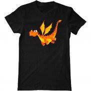 Мужская футболка с принтом Летящий дракон