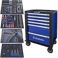 Тележка 4 полки с набором инструмента 209 предметов ANDRMAX