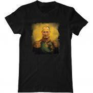 Мужская футболка с принтом Стив Джобс в мундире