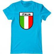 Мужская футболка с принтом Итальянский флаг