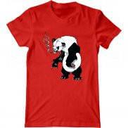 Мужская футболка с принтом Панда гопник