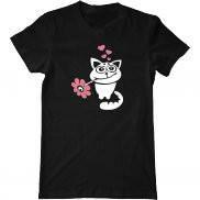 Мужская футболка с принтом Цветочный кот