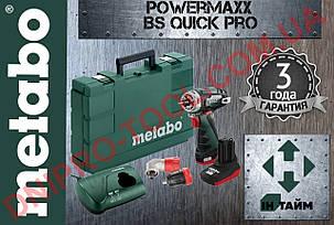 Аккумуляторный шуруповерт Metabo PowerMaxx BS Quick Pro (Аккумуляторная дрель-шуруповёрт SET BASIC), фото 2