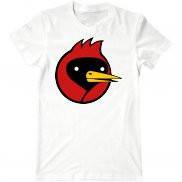 Мужская футболка с принтом Омск птицы