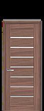 Дверное полотно Леона Ольха 3D со стеклом сатин