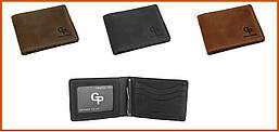 Зажим-портмоне для купюр Grande Pelle, разные цвета