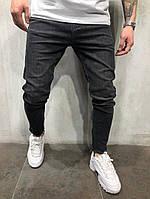 мужские свободные джинсы черные , фото 1