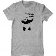Мужская футболка с принтом Gangsta Panda