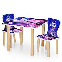 Столик деревянный с двумя стульчиками  506-55 Литл Пони