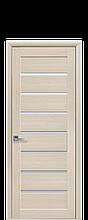 Дверное полотно Леона Дуб Жемчужный со стеклом сатин