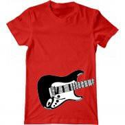 Мужская футболка с принтом Fender Guitar