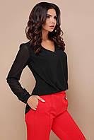 Красива блуза з креп-шифону та гипюру, фото 1