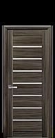 Дверное полотно Леона Кедр со стеклом сатин