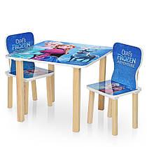 Столик деревянный с двумя стульчиками  506-69 Frozen,Фроузен,Эльза