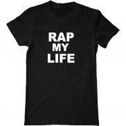 Мужская футболка с принтом Рэп моя жизнь