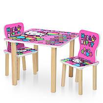 Столик деревянный с двумя стульчиками  506-49  Hello Kitty,Китти
