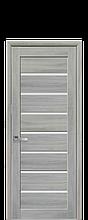 Дверное полотно Леона Ясень Патина со стеклом сатин