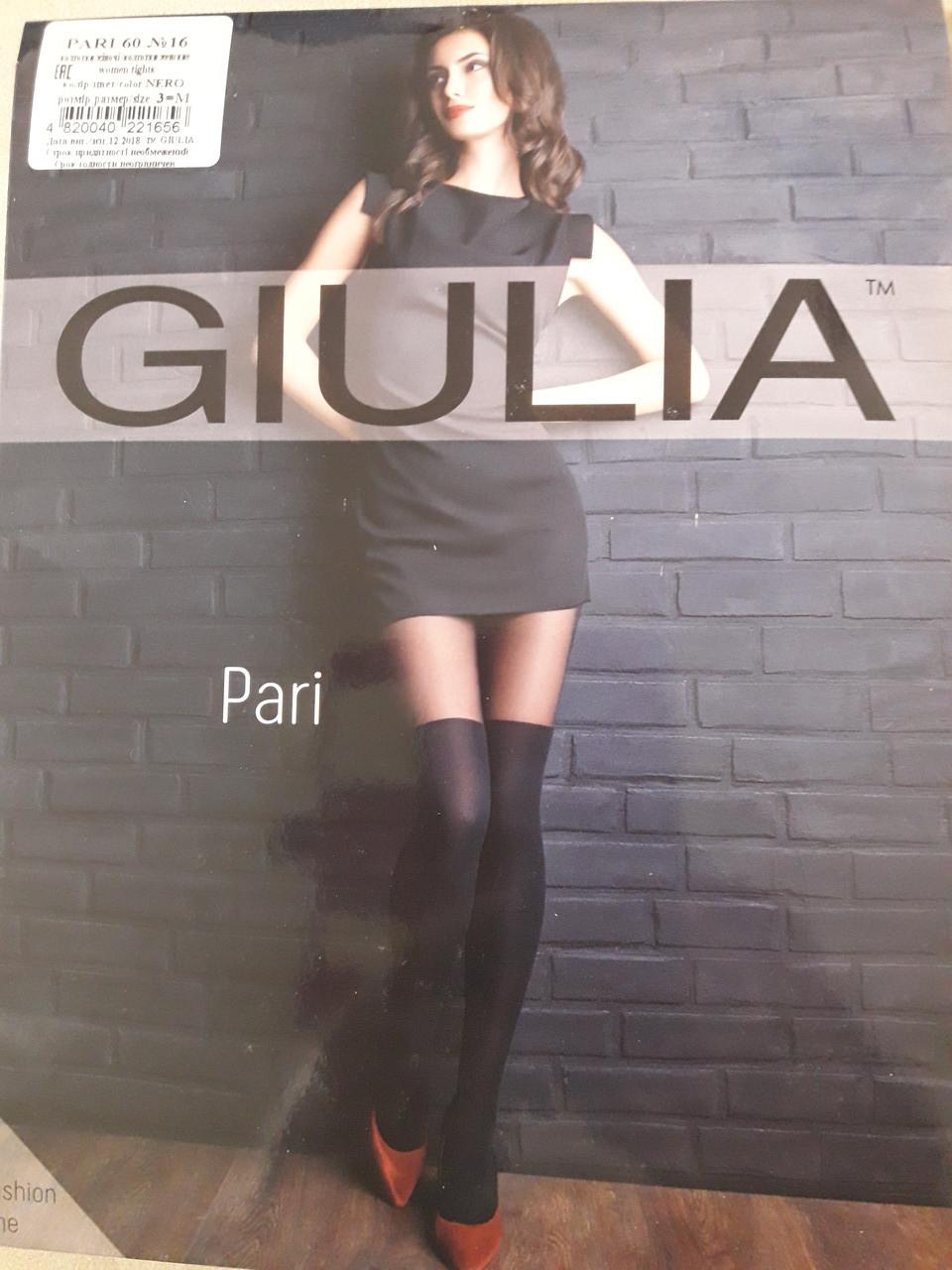 Фантазийные колготки с имитацией чулков GIULIA PARI 60 model 16