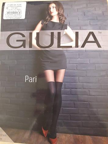 Фантазийные колготки с имитацией чулков GIULIA PARI 60 model 16, фото 2