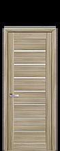Дверное полотно Леона Сандал со стеклом сатин