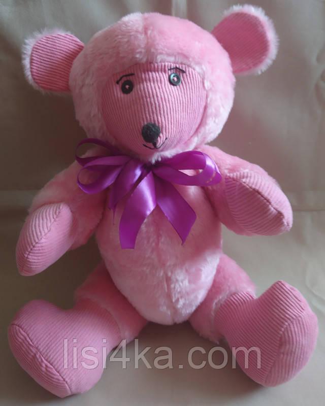 Интерьерная текстильная игрушка ручной работы розового цвета