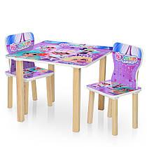 Столик деревянный с двумя стульчиками  506-68 Hairdorables