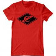 Мужская футболка с принтом Спартак логотип
