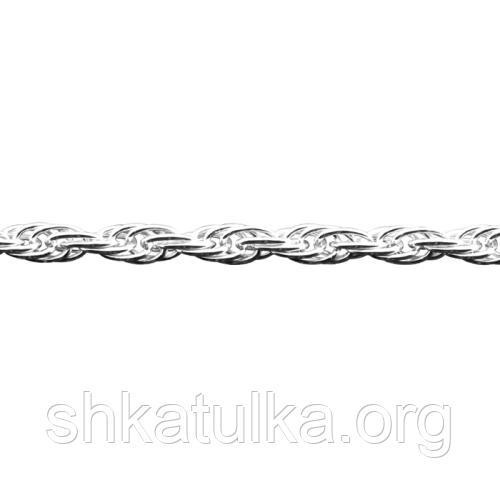 Цепочка серебряная с плетением Жгут