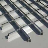 Подвесной потолок Грильято 200х200 белый/металлик/черный