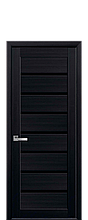 Дверное полотно Леона Венге DeWild с черным стеклом