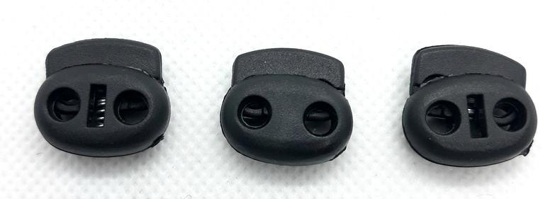 Фиксатор для шнура 3370 поросенок черный пластик