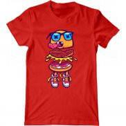 Мужская футболка с принтом Бургер Гик