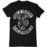 Мужская футболка с принтом Sons of Anarchy California