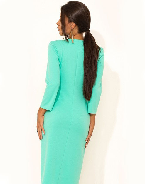 8c1e9c4a03c6b8b Элегантное ментоловое платье в офис Д-1029, цена 899 грн., купить в Киеве —  Prom.ua (ID#682060123)