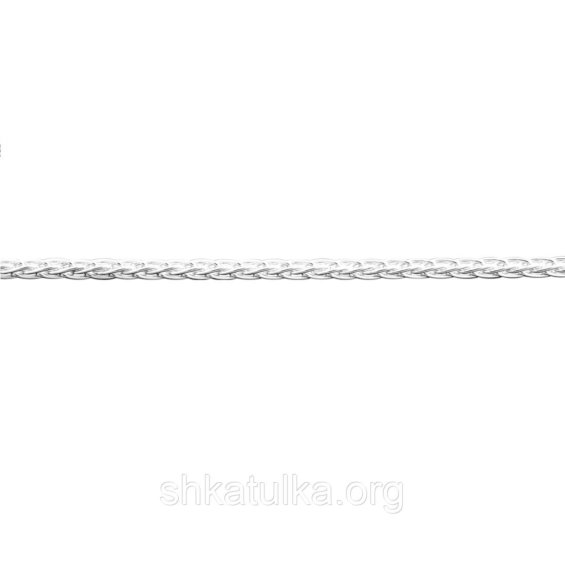 Цепочка серебряная с плетением Колос
