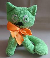 """Текстильная мягкая игрушка """"Салатный котенок"""""""
